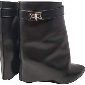 Givenchy Black Shark Lock Ankle Boots